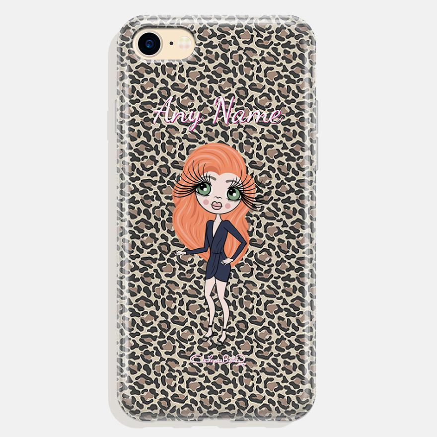 ClaireaBella Personalized Leopard Print Phone Case - Image 0