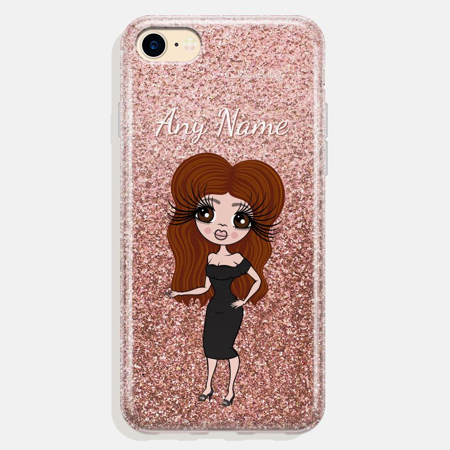 ClaireaBella Personalized Glitter Effect Phone Case - Image 0