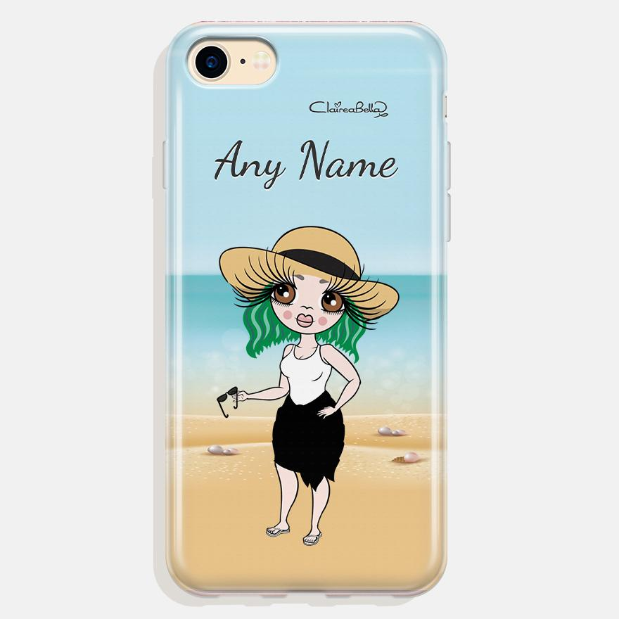 ClaireaBella Personalized Beach Print Phone Case - Image 0