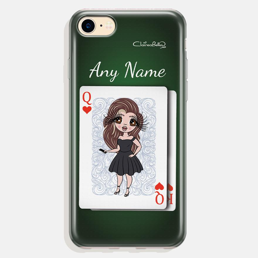 ClaireaBella Personalized Queen Of Hearts Phone Case - Image 0