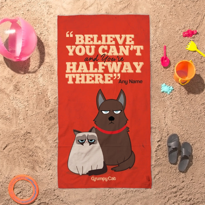 Grumpy Cat Believe Beach Towel - Image 7