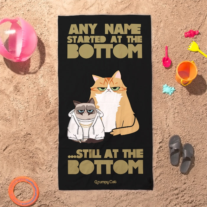 Grumpy Cat At The Bottom Beach Towel - Image 7