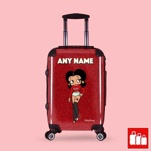 Betty Boop Red Glitter Effect Suitcase - Image 0