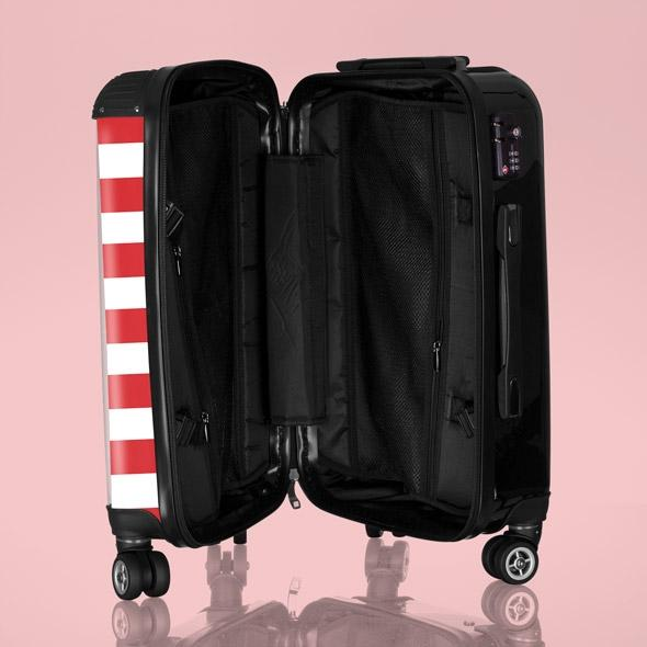 Betty Boop Candy Stripe Suitcase - Image 2