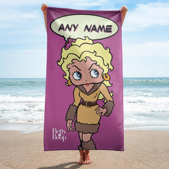 Betty Boop Pop Art Beach Towel - Image 1