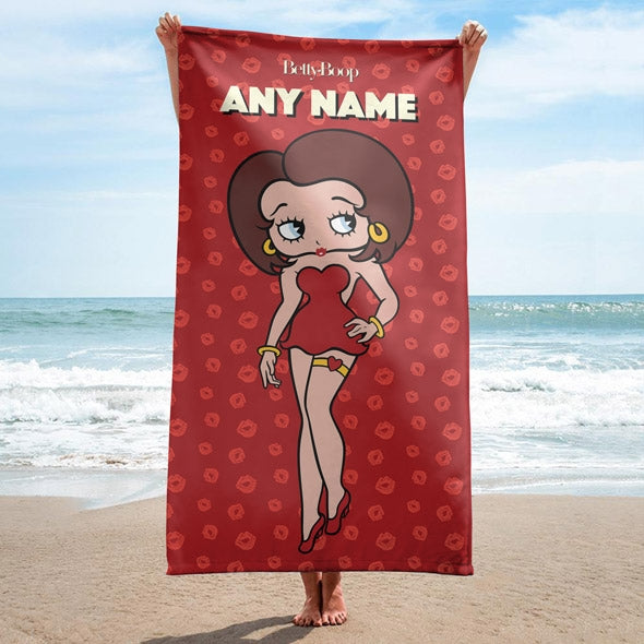 Betty Boop A Thousand Kisses Beach Towel - Image 3