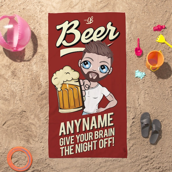 MrCB Beer Brain Beach Towel - Image 1