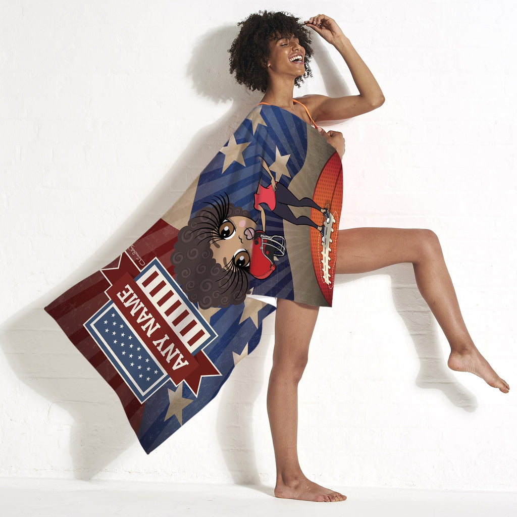 ClaireaBella American Football Beach Towel - Image 3
