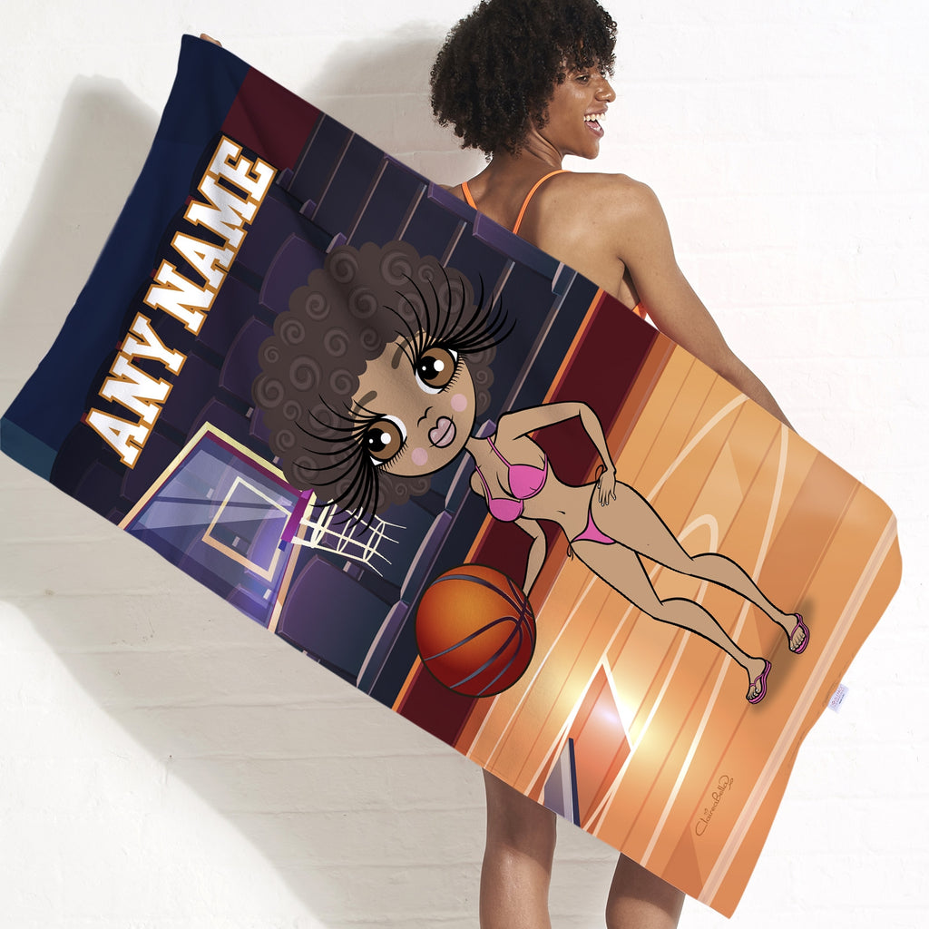 ClaireaBella Basketball Beach Towel - Image 1