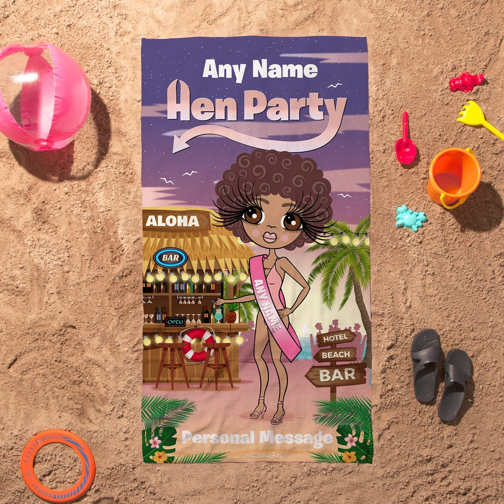 ClaireaBella Hen Party Beach Bar Beach Towel - Image 5