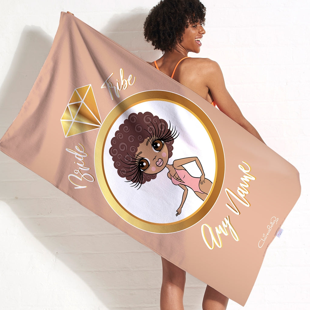 ClaireaBella Bride Tribe Beach Towel - Image 1