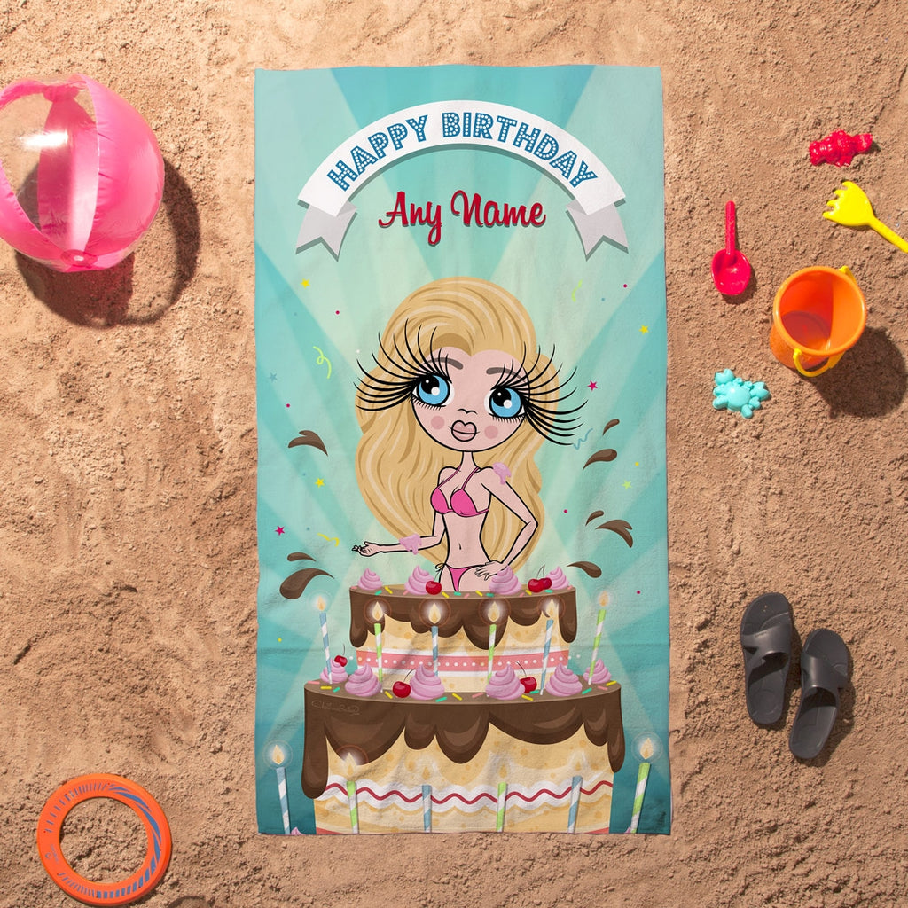 ClaireaBella Cake Surprise Beach Towel - Image 4