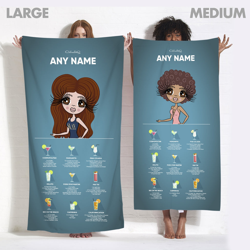 ClaireaBella Cocktail Recipe Beach Towel - Image 5