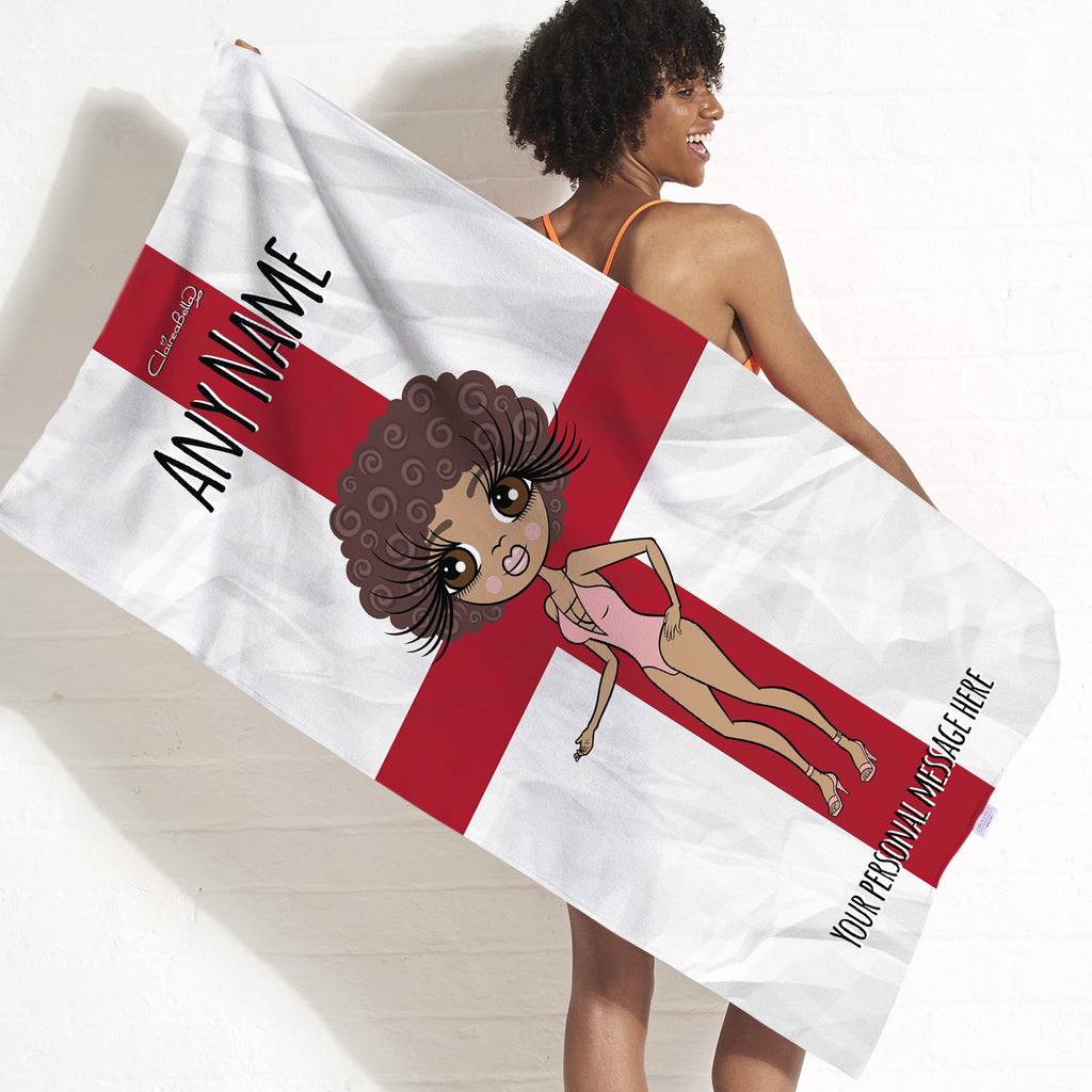 ClaireaBella England Flag Beach Towel - Image 1
