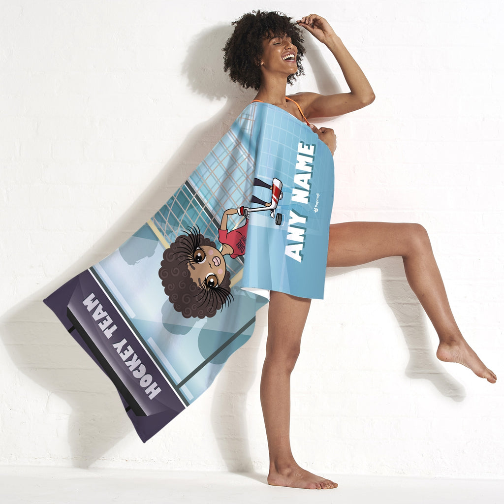 ClaireaBella Ice Hockey Beach Towel - Image 5