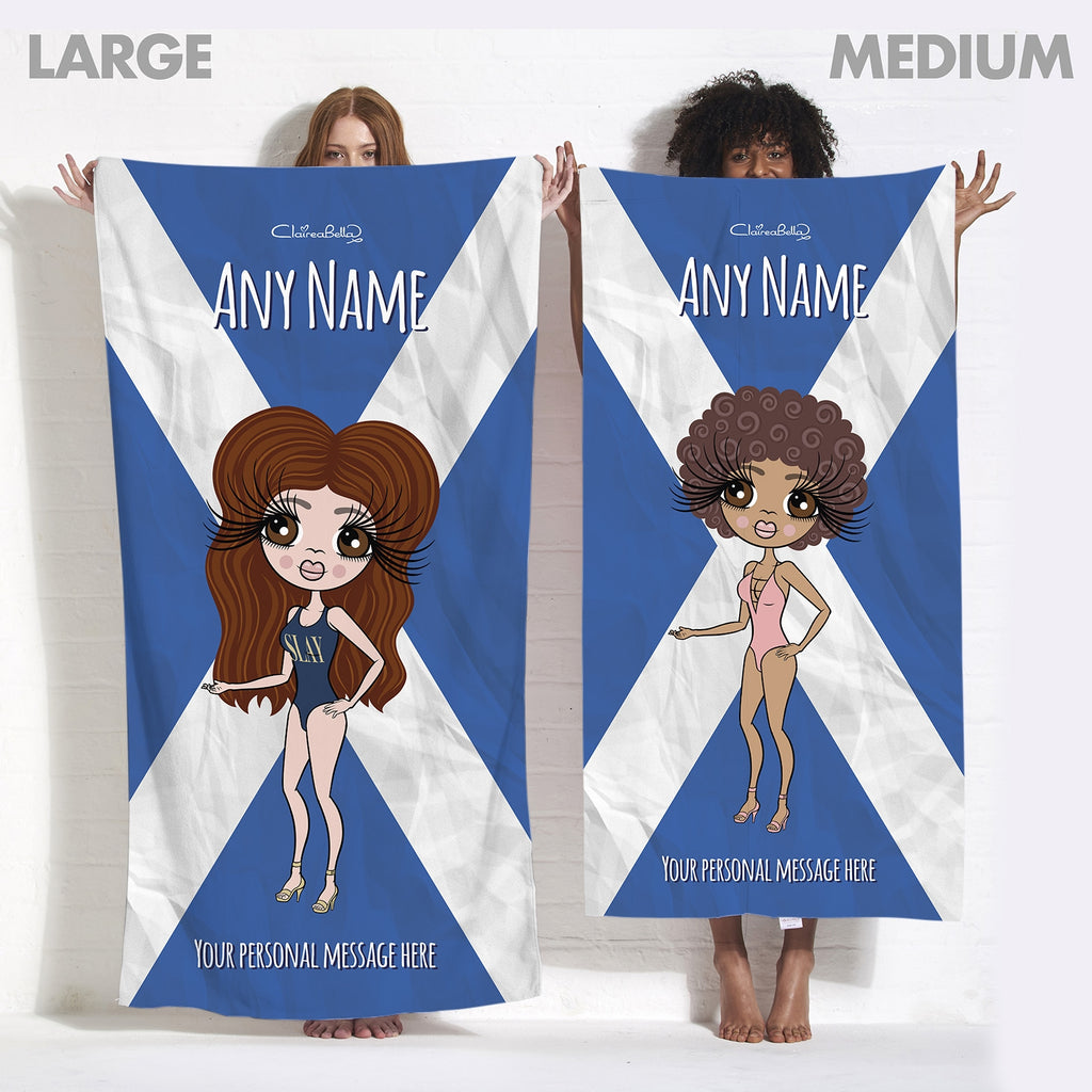 ClaireaBella Scottish Flag Beach Towel - Image 5