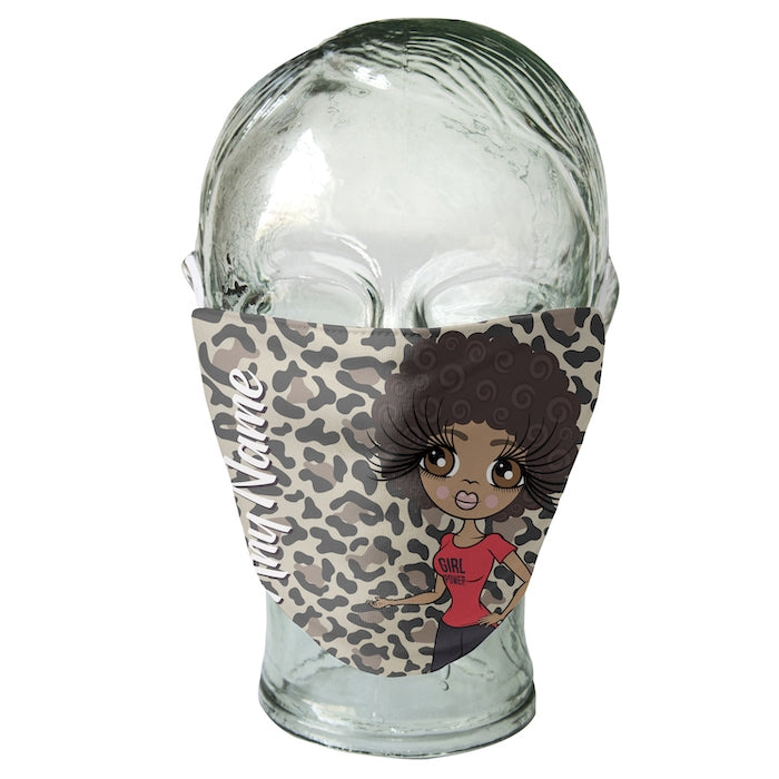 ClaireaBella Personalized Leopard Print Reusable Face Covering - Image 3