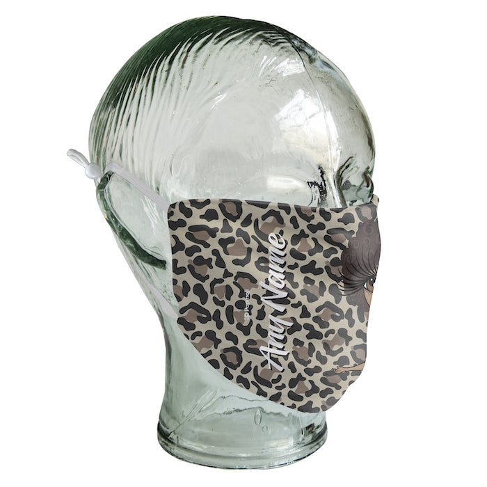 ClaireaBella Personalized Leopard Print Reusable Face Covering - Image 5