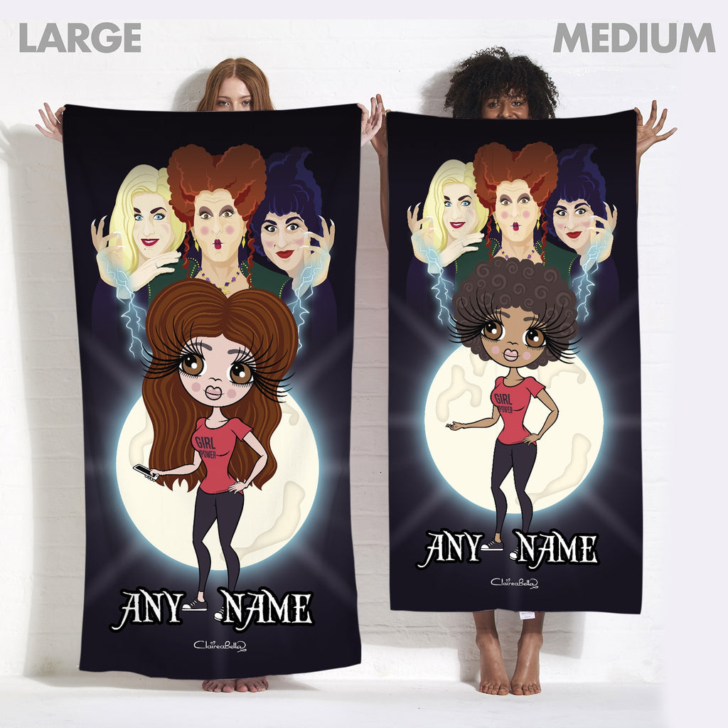 ClaireaBella Mischievous Witches Beach Towel - Image 3