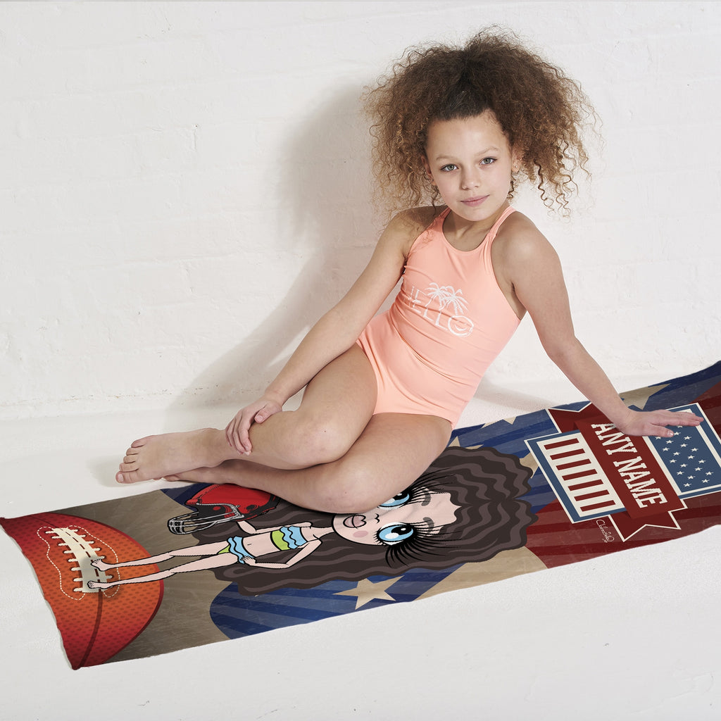 ClaireaBella Girls American Football Beach Towel - Image 3