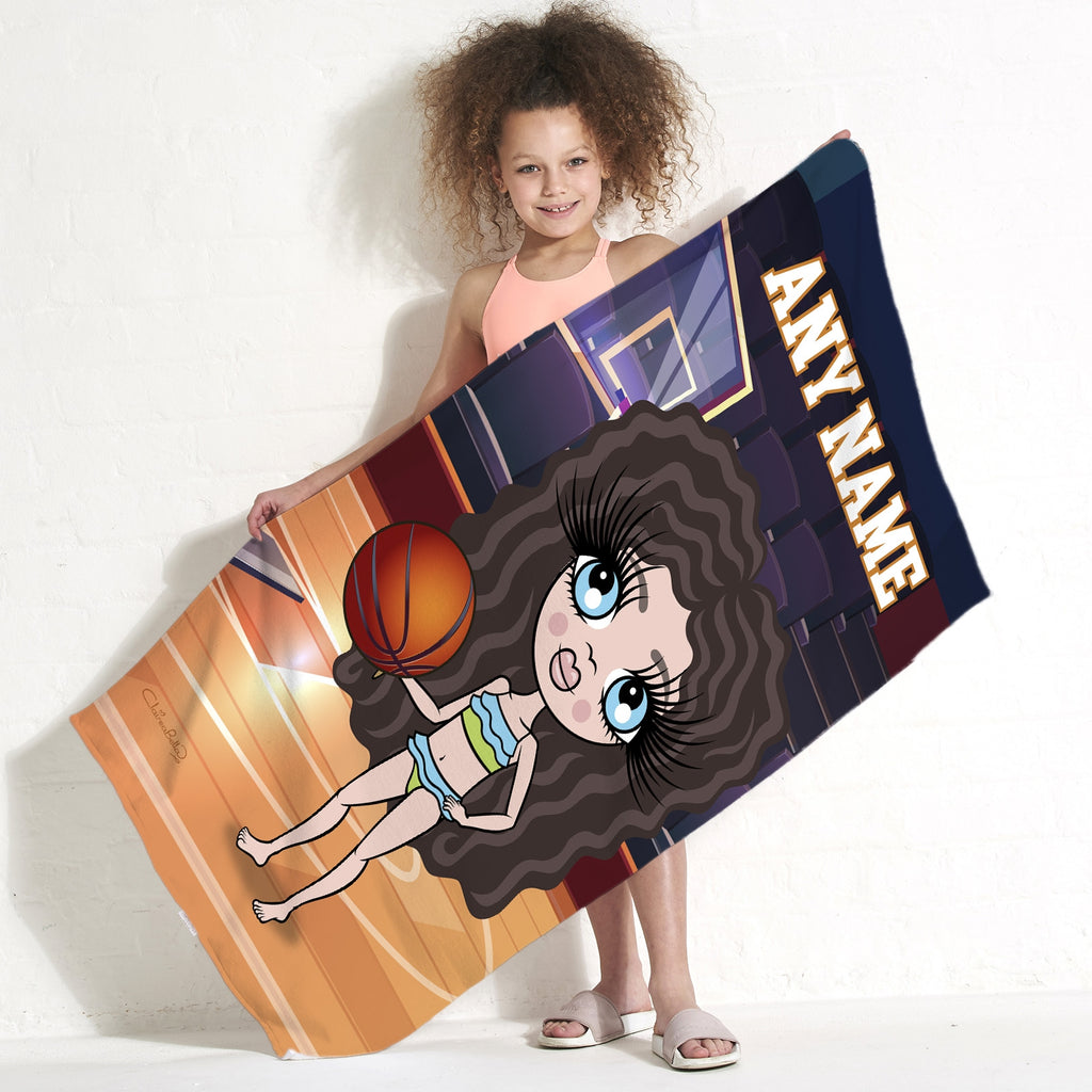 ClaireaBella Girls Basketball Beach Towel - Image 1