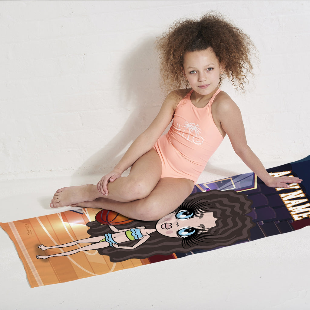 ClaireaBella Girls Basketball Beach Towel - Image 2