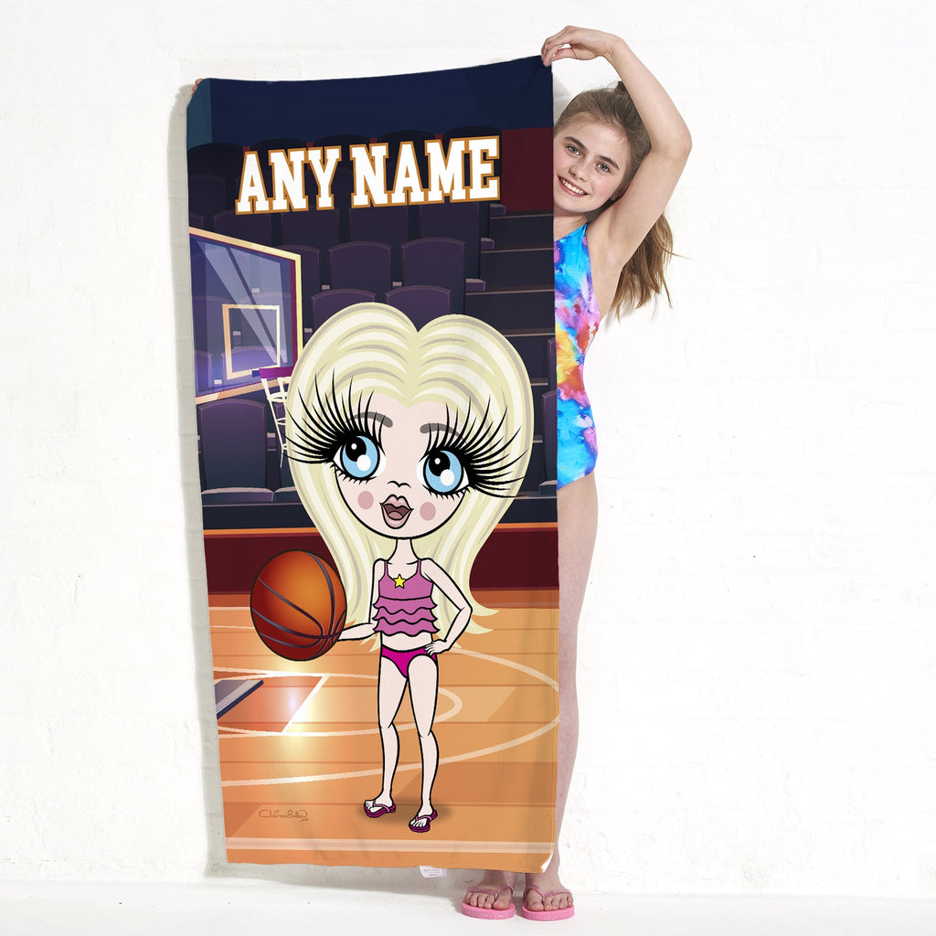 ClaireaBella Girls Basketball Beach Towel - Image 3