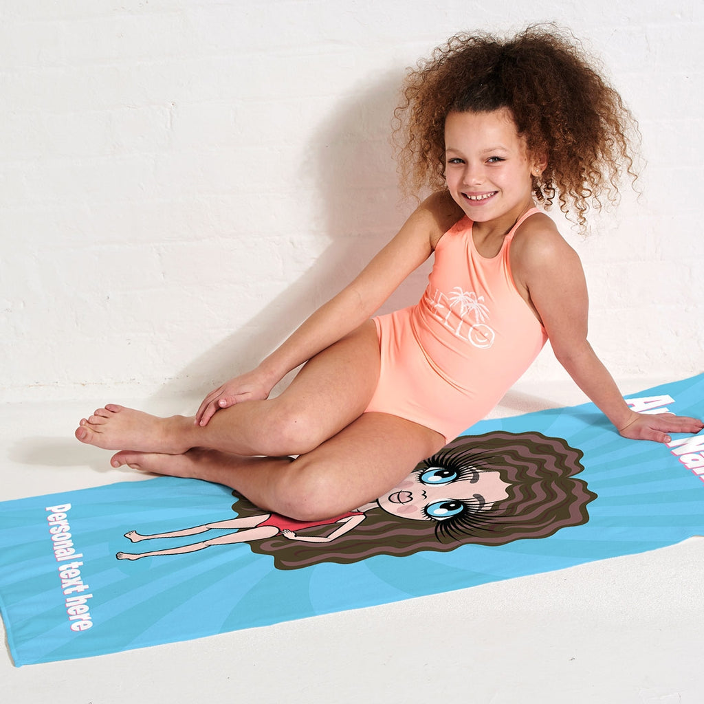 ClaireaBella Girls Blue Beach Towel - Image 5