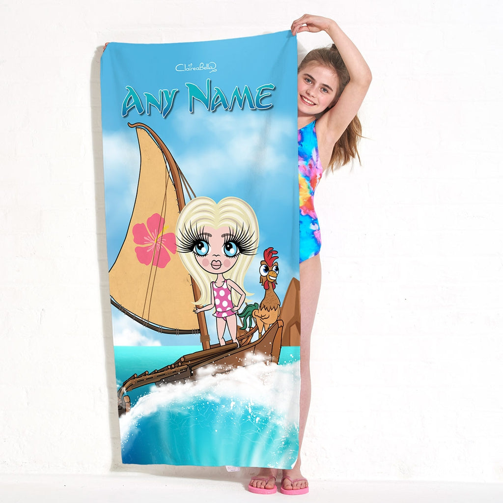 ClaireaBella Girls Sea Godess Beach Towel - Image 5