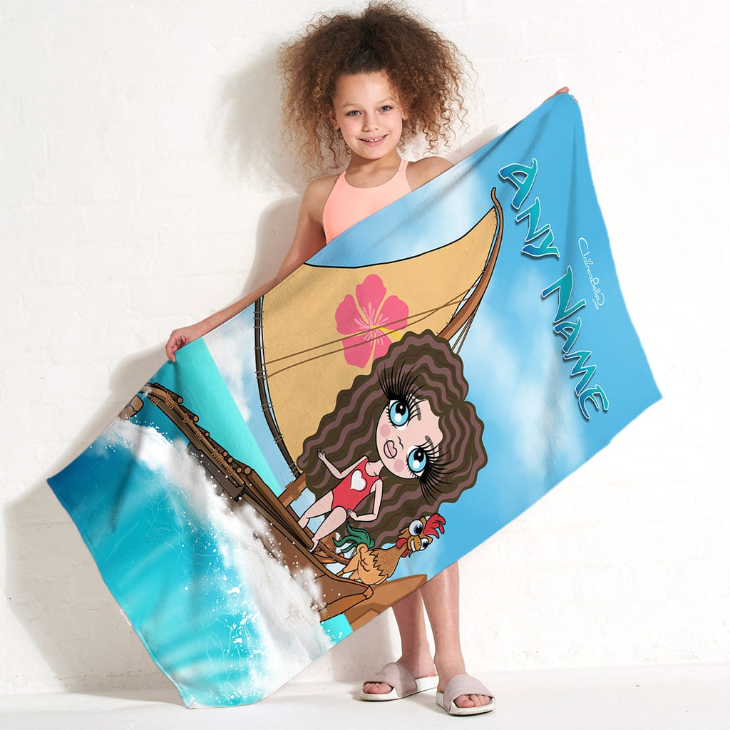 ClaireaBella Girls Sea Godess Beach Towel - Image 1