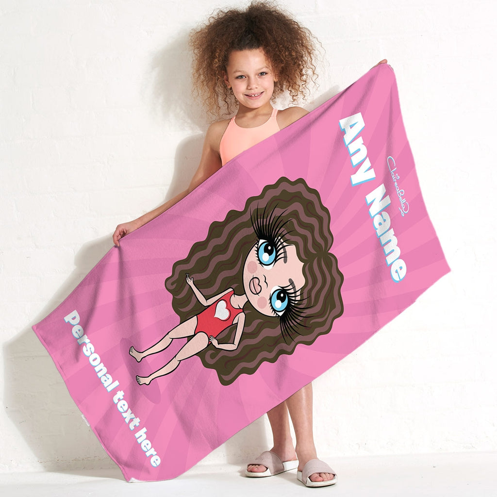 ClaireaBella Girls Pink Beach Towel - Image 5
