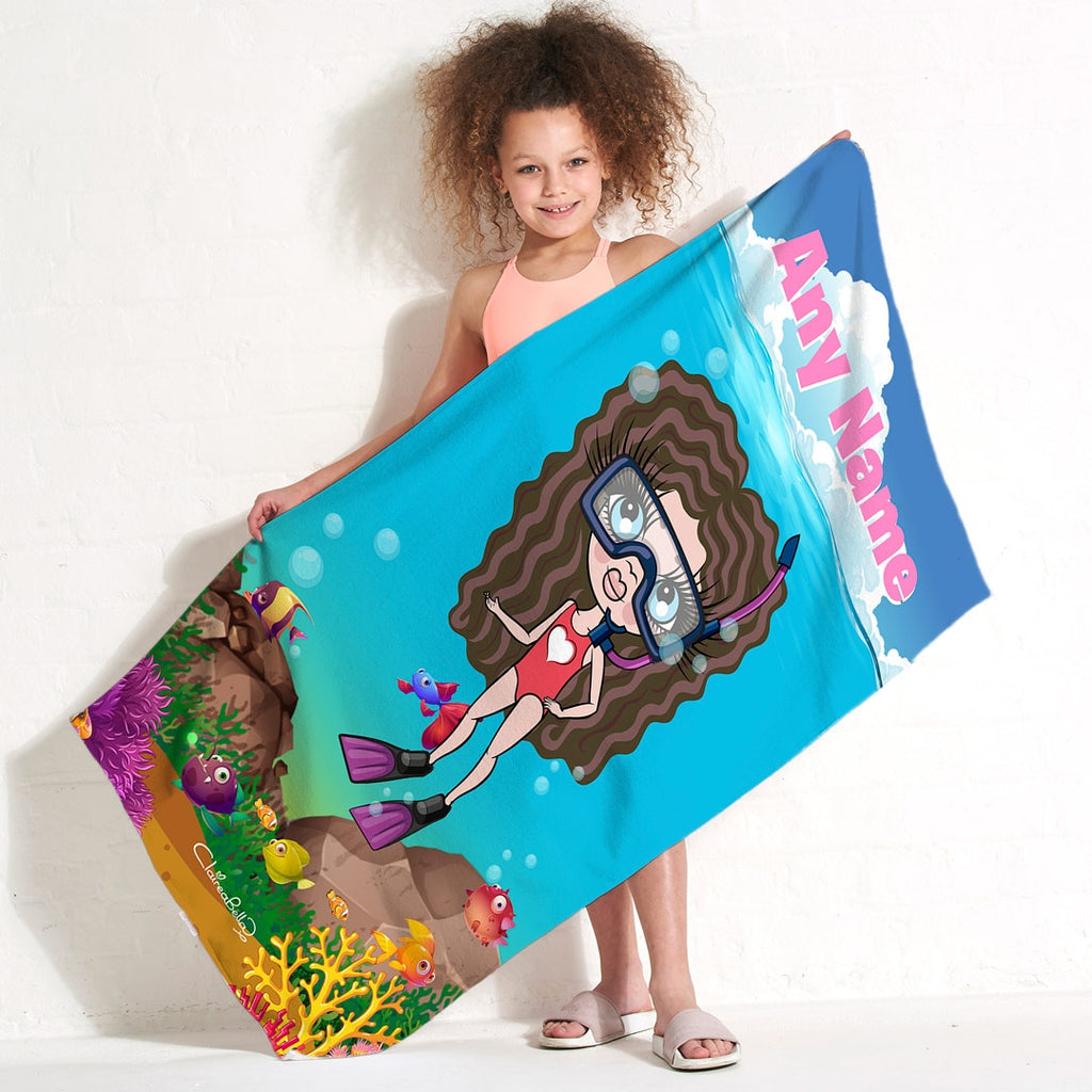 ClaireaBella Girls Scuba Beach Towel - Image 3