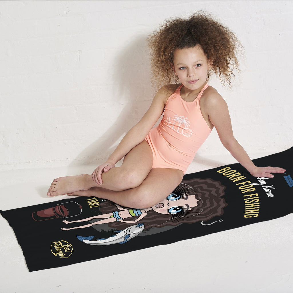 ClaireaBella Girls Born Fishing Beach Towel - Image 2