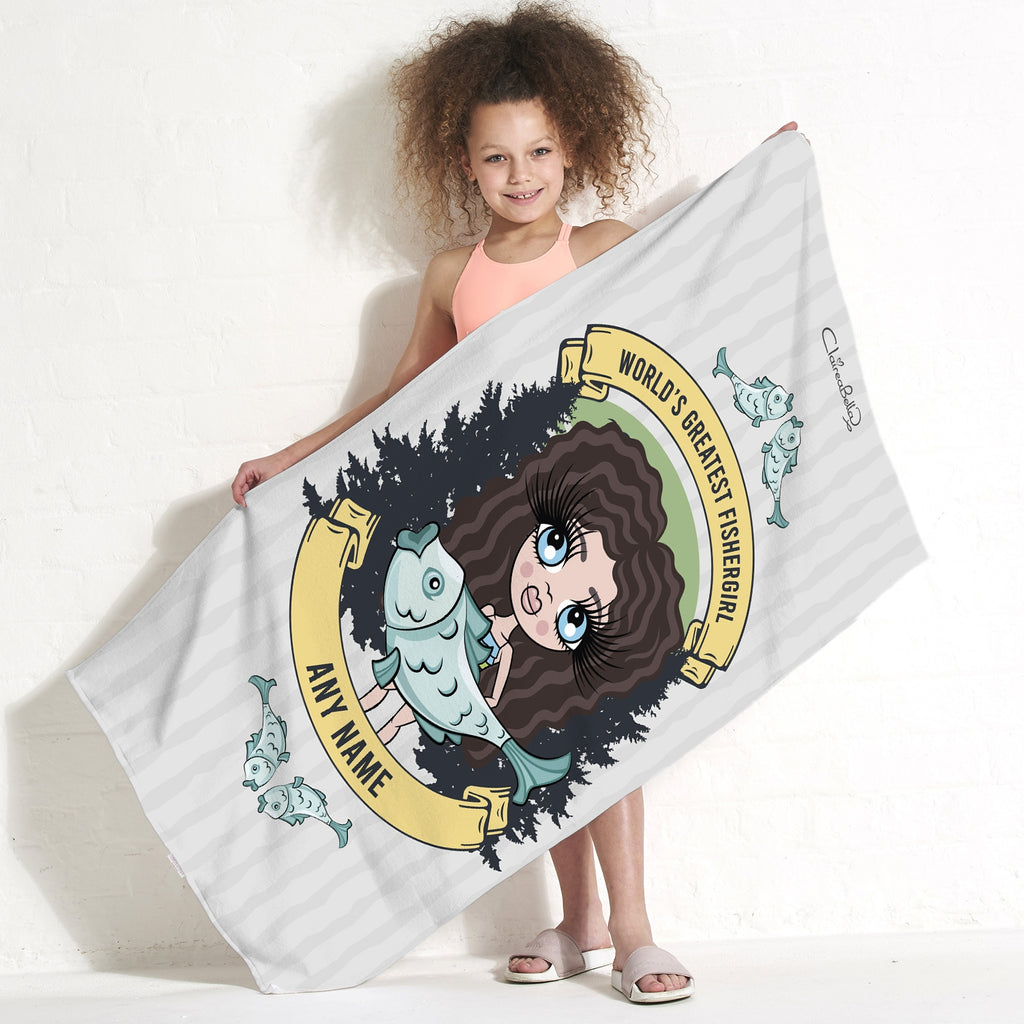 ClaireaBella Girls Fishergirl Beach Towel - Image 3