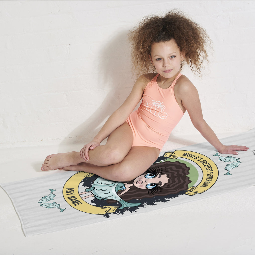ClaireaBella Girls Fishergirl Beach Towel - Image 2