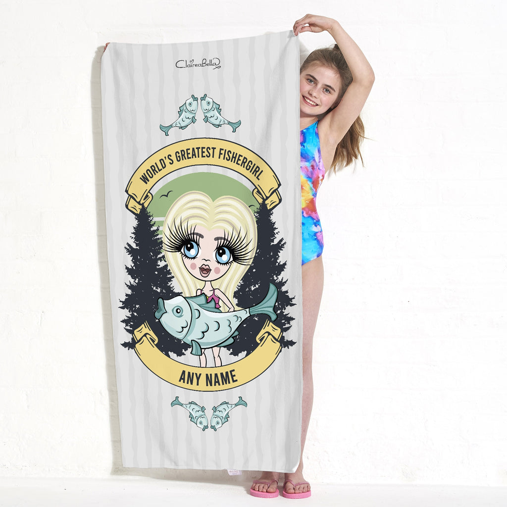 ClaireaBella Girls Fishergirl Beach Towel - Image 1