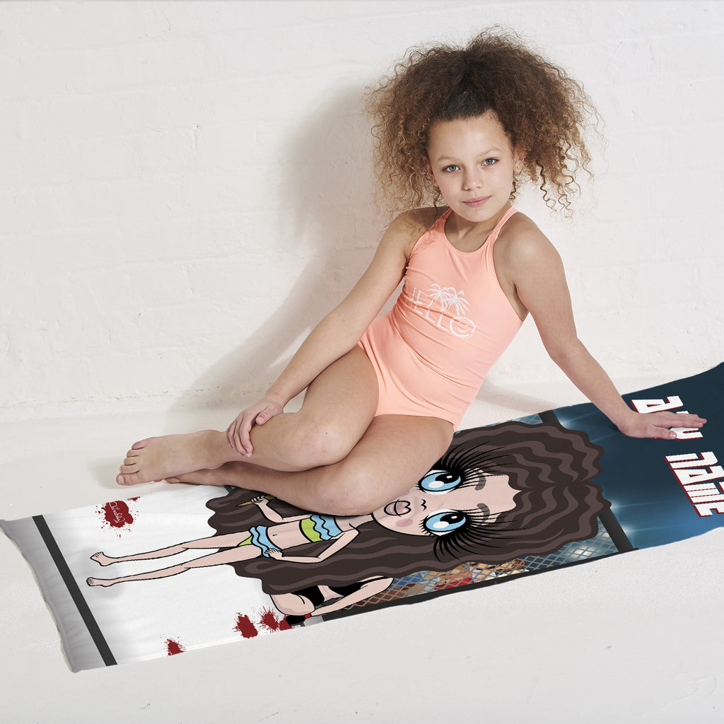 ClaireaBella Girls MMA Master Beach Towel - Image 3