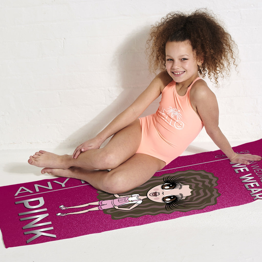 ClaireaBella Girls Pink Wednesdays Beach Towel - Image 2
