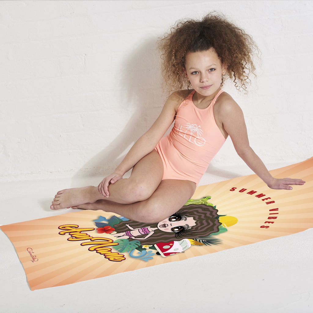 ClaireaBella Girls Summer Vibes Beach Towel - Image 4