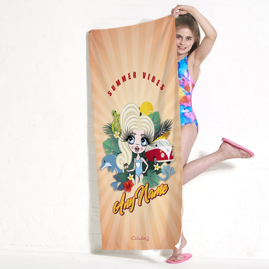 ClaireaBella Girls Summer Vibes Beach Towel - Image 5