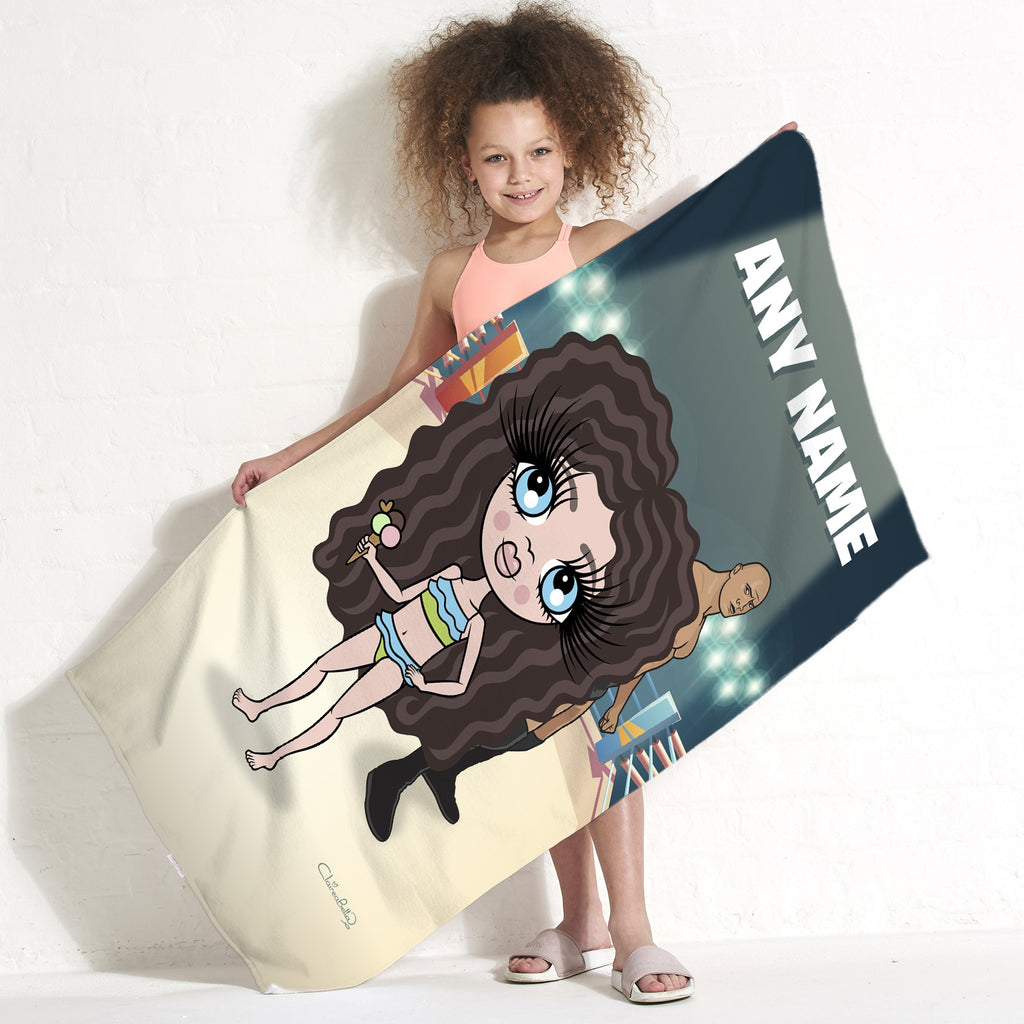 ClaireaBella Girls Wrestling Champion Beach Towel - Image 1