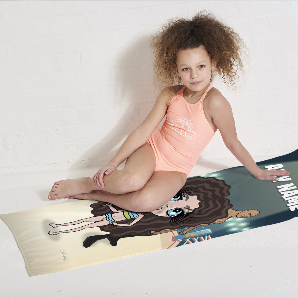 ClaireaBella Girls Wrestling Champion Beach Towel - Image 2