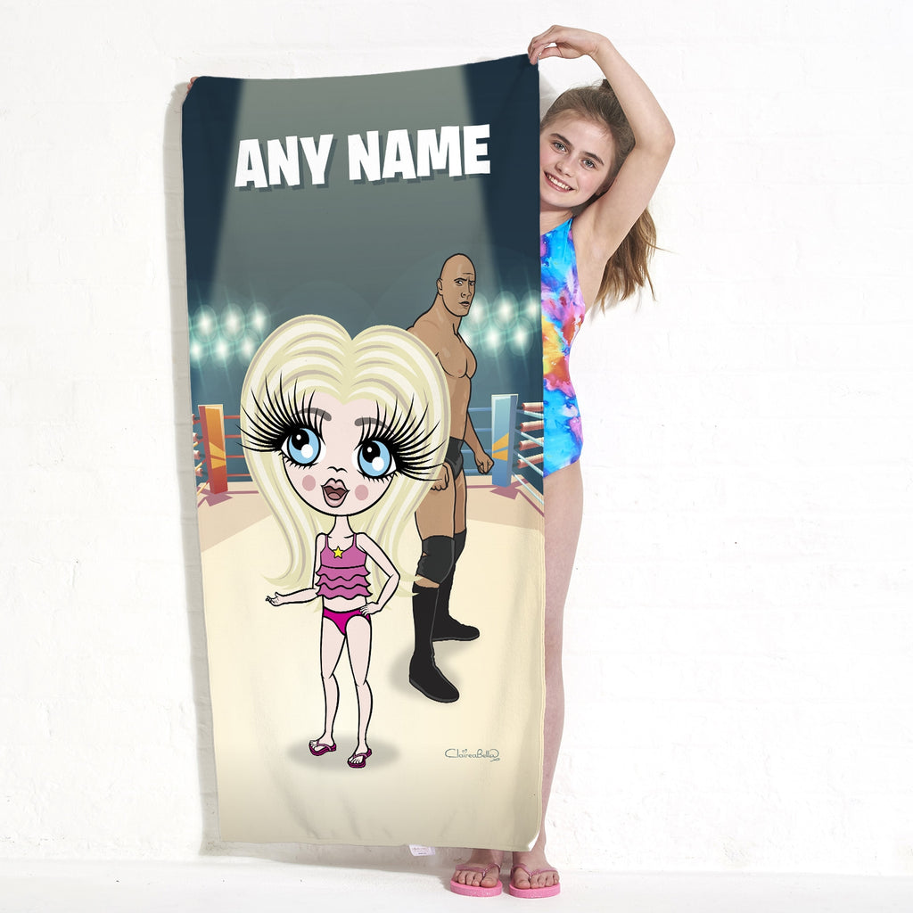 ClaireaBella Girls Wrestling Champion Beach Towel - Image 3