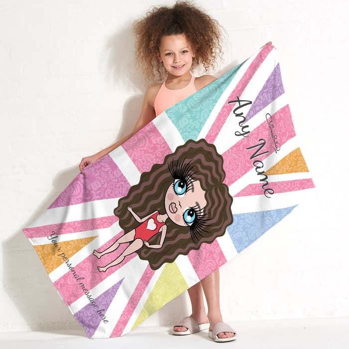 ClaireaBella Girls Union Jack Beach Towel - Image 3