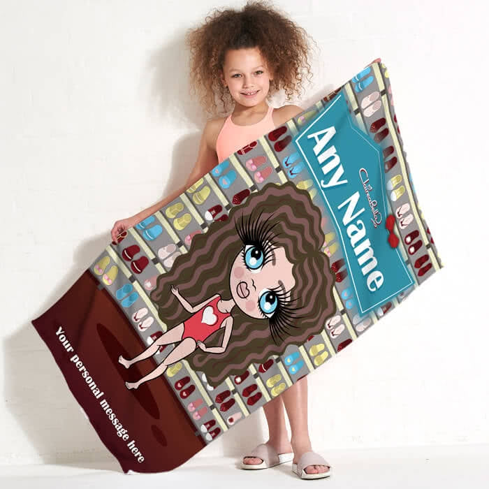 ClaireaBella Girls Shoe Heaven Beach Towel - Image 1