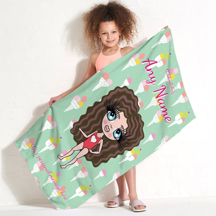 ClaireaBella Girls Ice Cream Beach Towel - Image 5