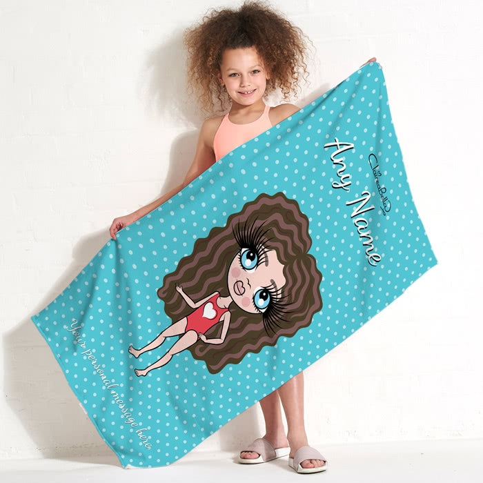 ClaireaBella Girls Polka Dot Beach Towel - Image 7
