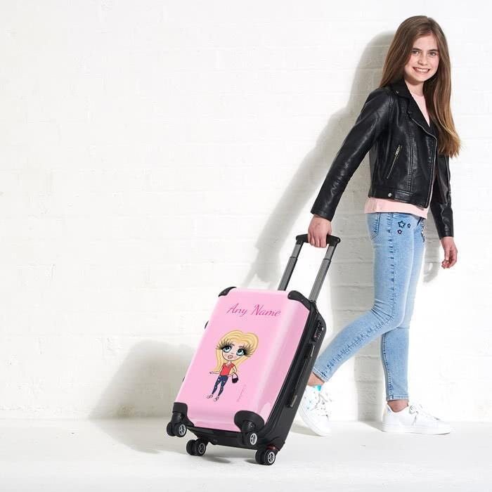 ClaireaBella Girls Pastel Pink Suitcase - Image 4
