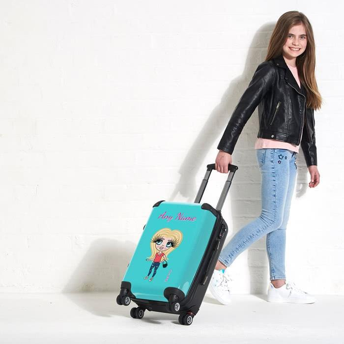 ClaireaBella Girls Turquoise Suitcase - Image 4