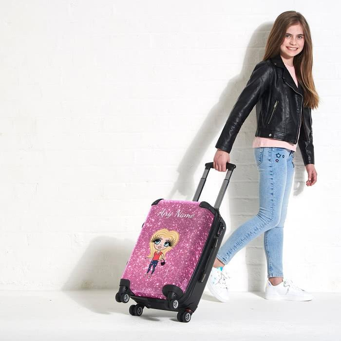 ClaireaBella Girls Glitter Effect Suitcase - Image 3